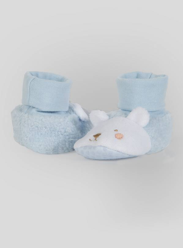 Pale Blue Animal Booties - 18-24 months