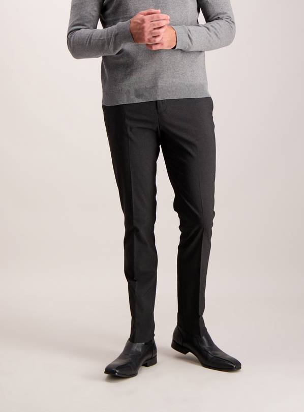 Online Exclusive Black Skinny Fit Trousers With Stretch - W3