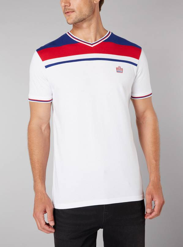 White Football Classic Stripe T-Shirt - XXXL