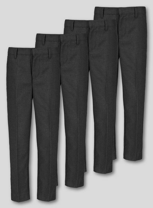 Grey School Trousers 4 Pack - 12 years