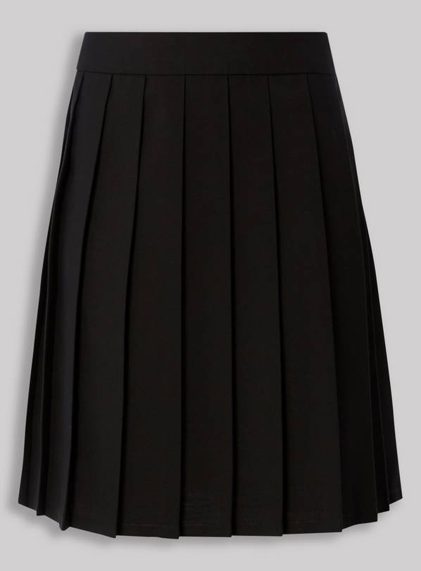 Black Permanent Pleat Skirt - 13 years