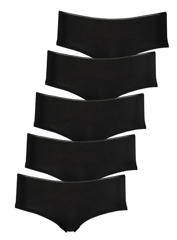 Black Knicker Shorts 5 Pack - 14