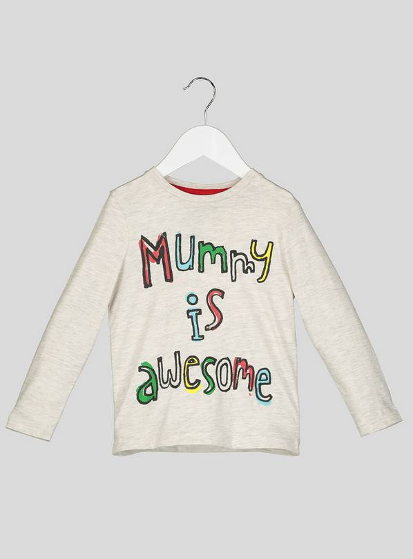 fb82f7417 Buy Grey Mummy Long Sleeve T-Shirt - 5-6 years | T-shirts | Argos