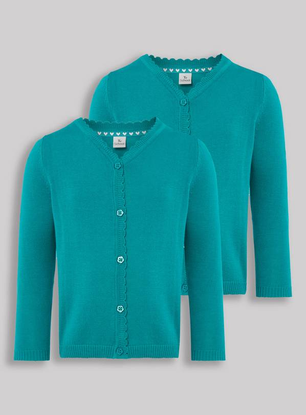 Jade Scalloped Cardigan 2 Pack - 7 years