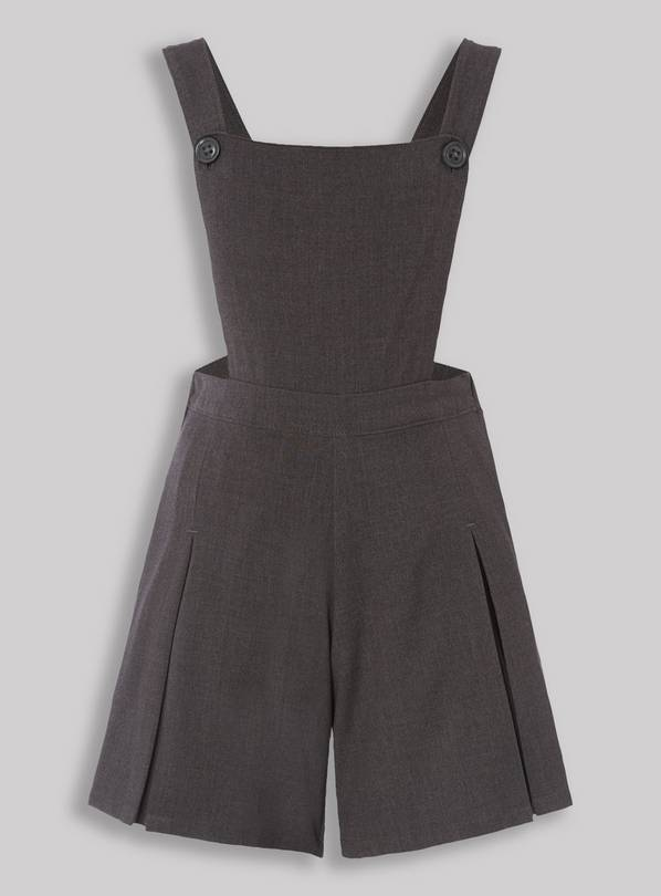 Grey School Playsuit - 6 years
