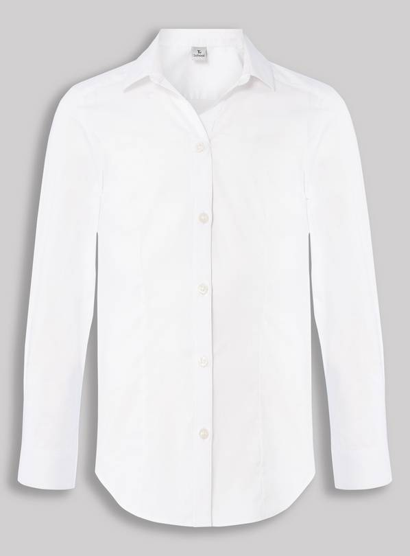 White Blouse With Stretch - 14 years
