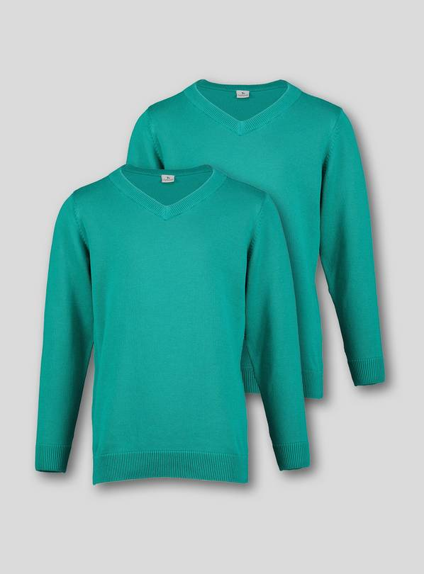 Jade V-Neck Jumpers 2 Pack - 7 years