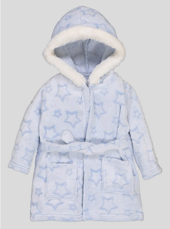 Buy Blue Star Embossed Dressing Gown - Up to 3 mths   Sleepsuits and ...
