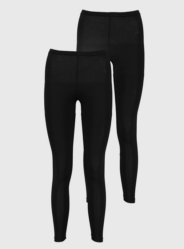 Black Leggings 2 Pack - 16-18