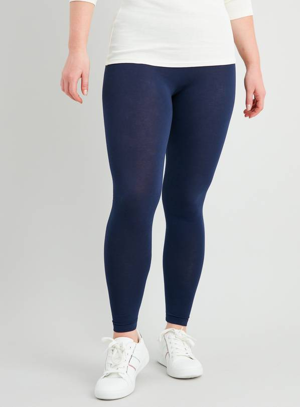 Navy & Black Leggings With Stretch 2 Pack - 12-14