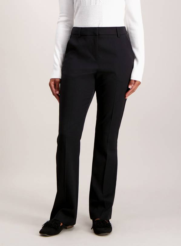 Black Slim Bootcut Trousers - 10S