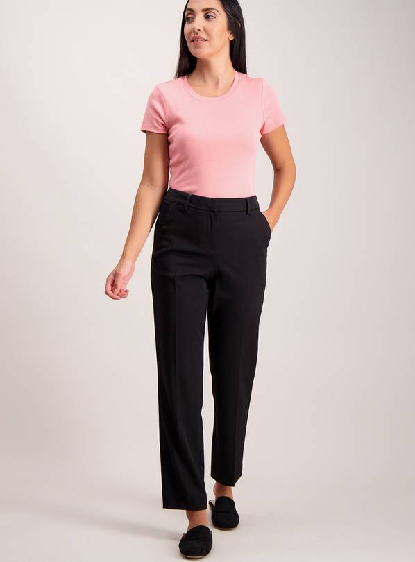 Black Slim Leg Stretch Trousers - 22R