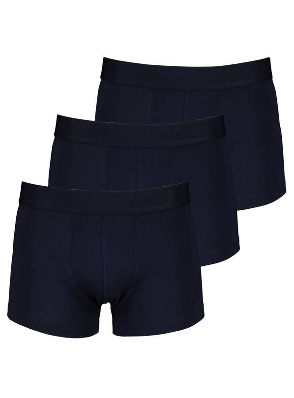Navy Blue Hipsters 3 Pack - L