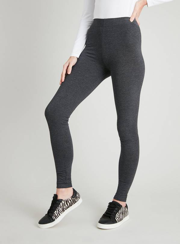 Grey Marl Soft Touch Leggings - 8L