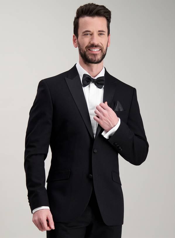 989dd59bc69 Buy Online Exclusive Black Slim Fit Tuxedo Dinner Jacket - 38R ...