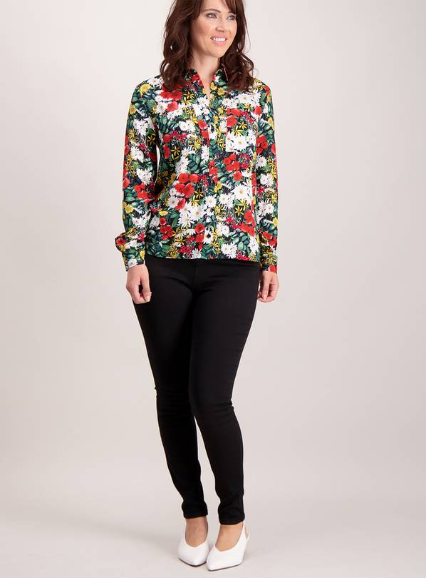 Multicoloured Floral Bloom Shirt - 28