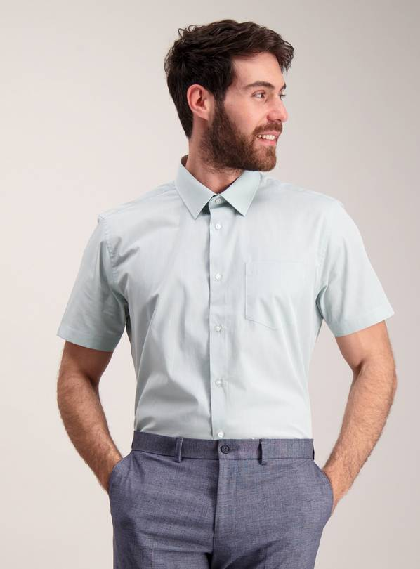 Mint Green Tailored Fit Shirt 2 Pack - 14.5