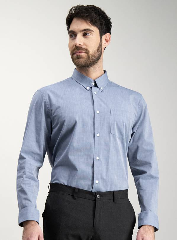 Multicoloured Tailored Fit Shirts 2 Pack - 17.5