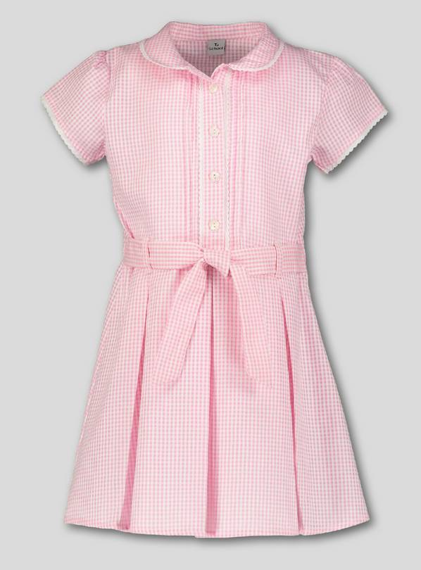 Pink Classic Gingham Plus Fit School Dress - 4 years