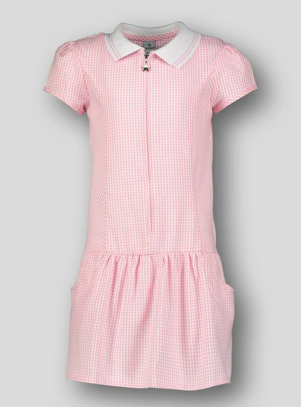 Pink Sporty Gingham School Dress - 13 years