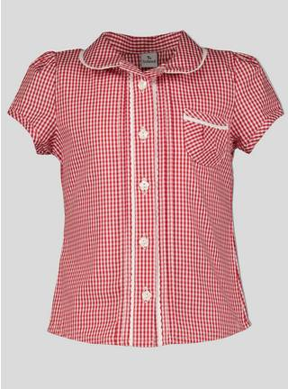 997f808dcc24b7 Buy Red Gingham School Blouse - 5 years | Girls school uniforms ...