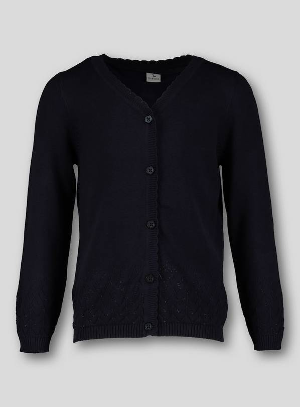 Navy Blue Pointelle Cardigan - 13 years
