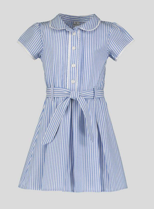 Blue Stripe School Dress - 13 years