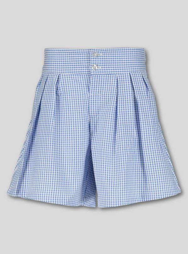 Blue Gingham School Culottes - 13 years
