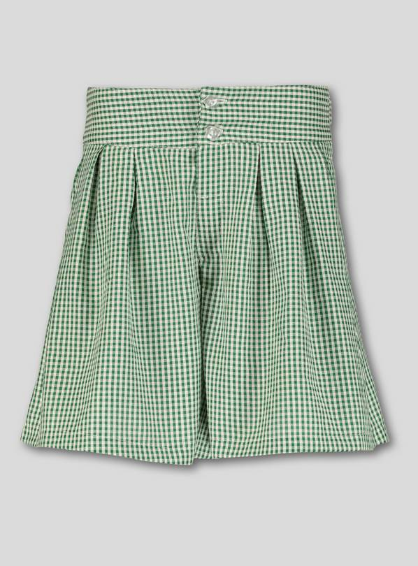 efdacec05 Buy Green Gingham School Culottes - 14 years | Girls school uniforms ...