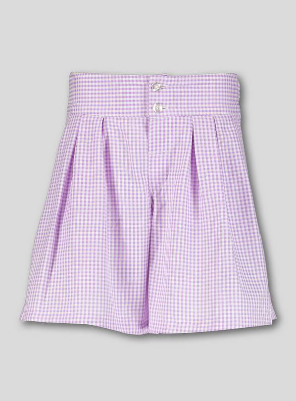 Lilac Gingham School Culottes - 13 years