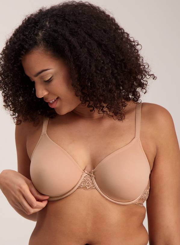Bronze Lace Trim Bra - 32D