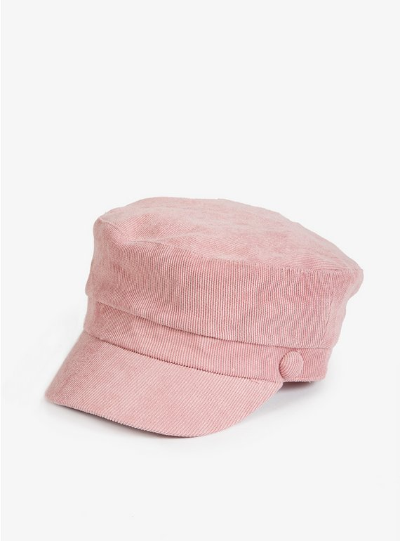 Buy Pink Glitter Corduroy Baker Boy Hat - 3-5 years  88914d67612