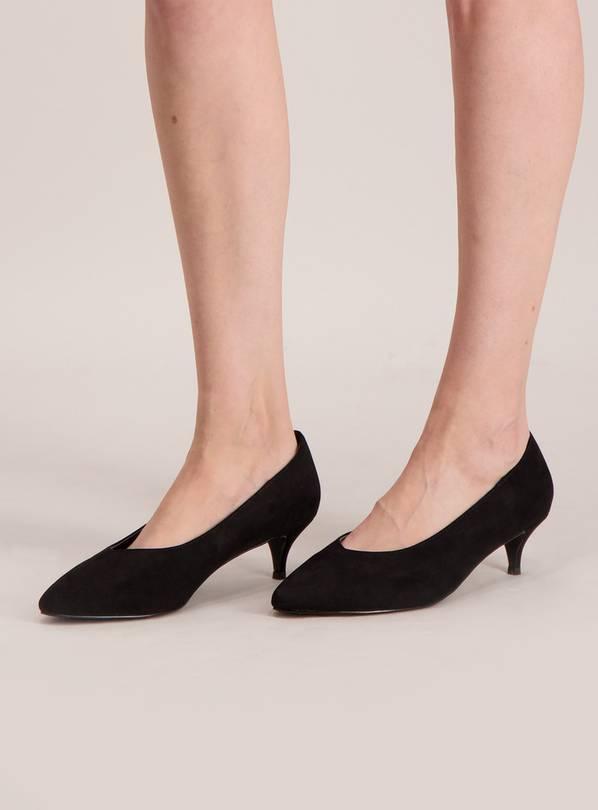 376753803b7 Buy Sole Comfort Black Kitten Heel Court Shoes - 4 | Shoes and boots | Argos