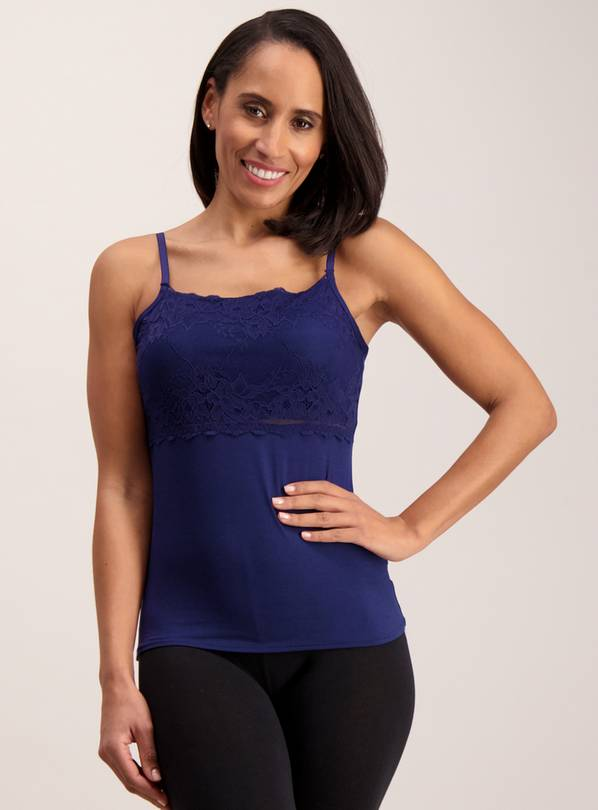 Navy Blue Lace Secret Support Camisole - 22