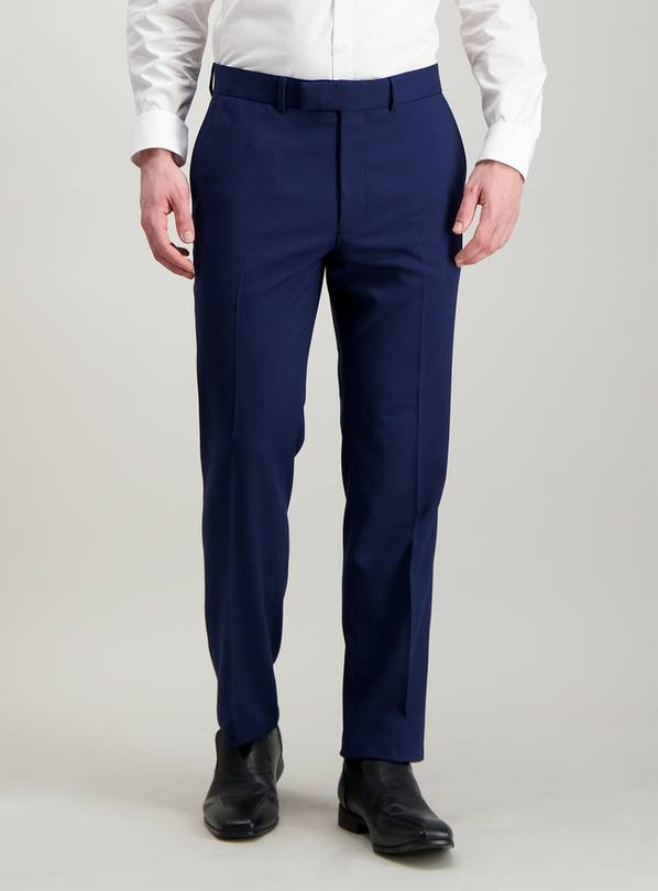 Cobalt Blue Tailored Fit Trousers - W38 L35