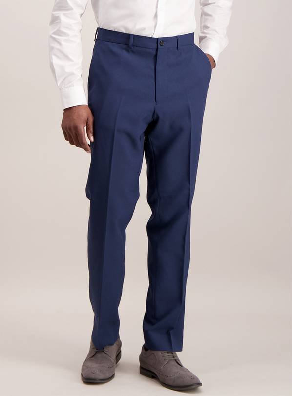 Online Exclusive Navy Tailored Fit Smart Trousers - W44 L29