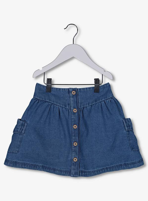 0df49ac39 Buy Blue Denim Button-Through Skater Skirt - 7 years | Skirts and ...