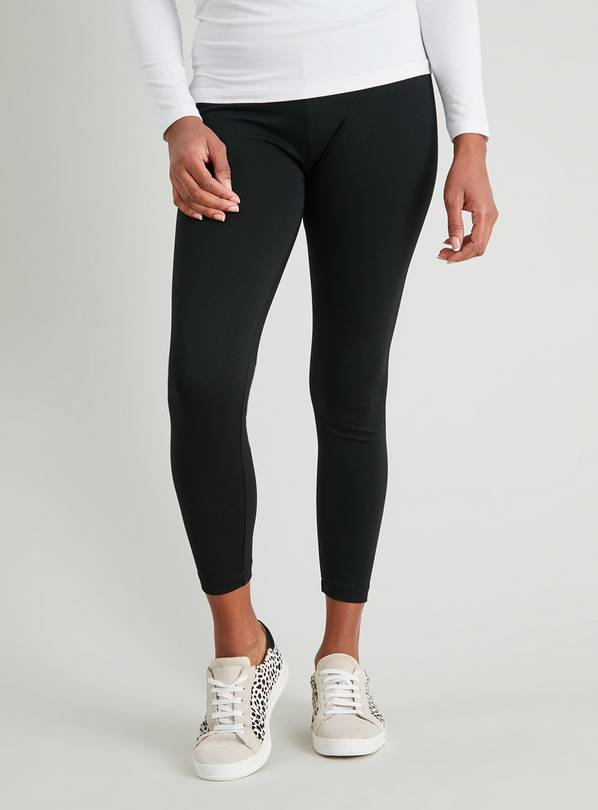 Black Ponte Leggings - 8