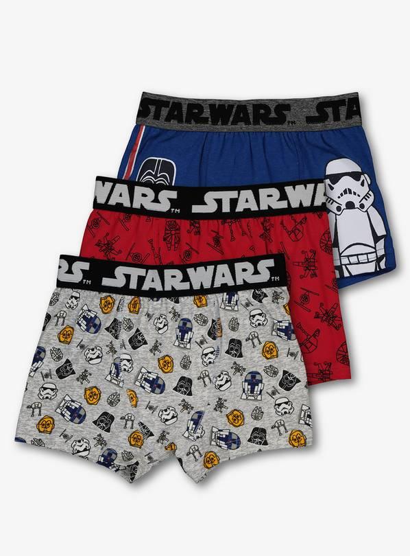 12fbe5d761 Buy Star Wars Multicoloured Trunks 3 Pack - 3-4 years | Underwear ...