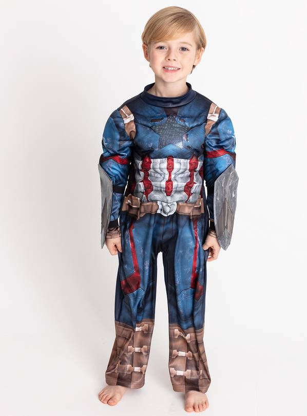 Marvel Avengers Captain America Navy Costume - 3-4 Years