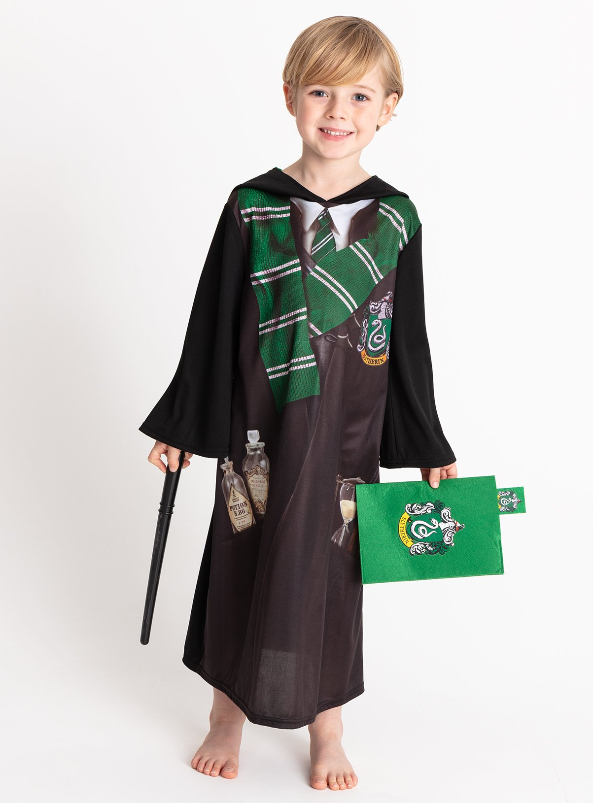 Harry Potter Black Slytherin Costume - 7-8 years