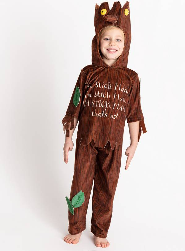 Stick Man Brown Costume - 5-6 years