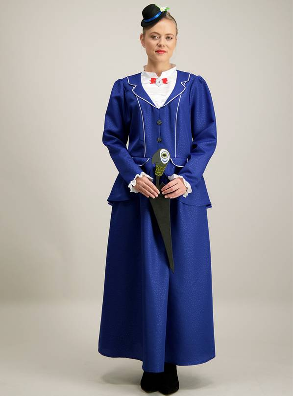 Disney Mary Poppins Blue Costume 3 Part Set - 12-14