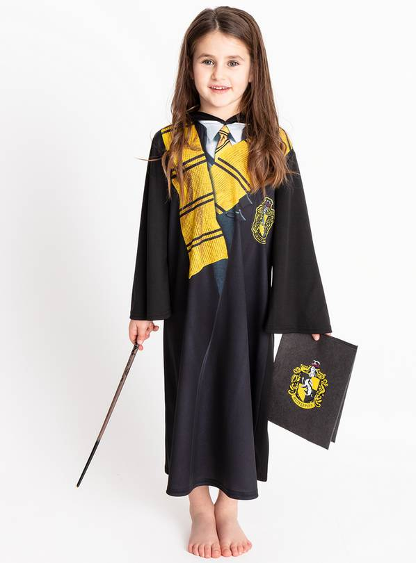 Harry Potter Black Hufflepuff Costume - 7-8 years