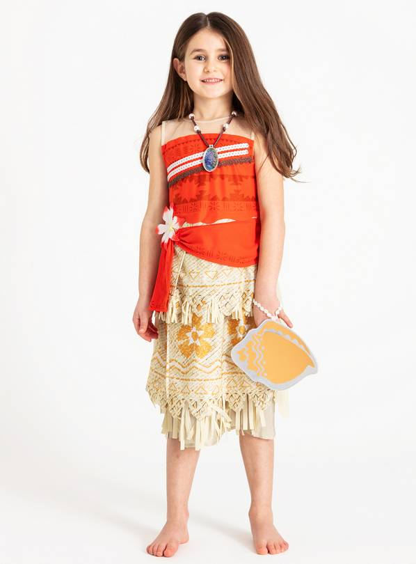 Disney Red Moana Costume - 7-8 years