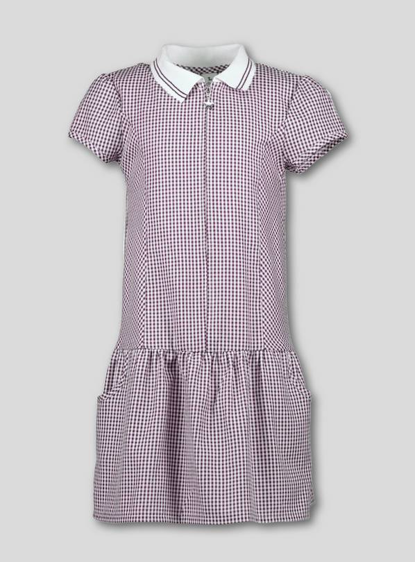 4128c4f1e54 Buy Burgundy Sporty Gingham School Dress - 6 years