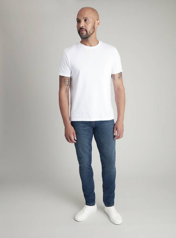 Online Exclusive Blue Midwash Super Skinny Denim Jeans With