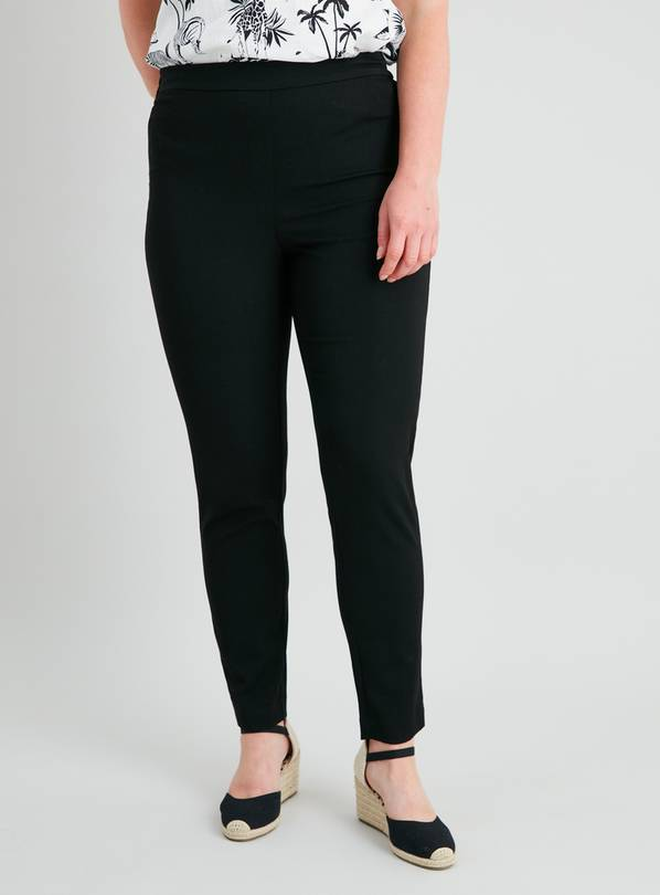Black Tapered Slim Leg Trousers - 14R