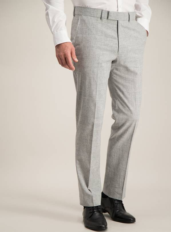 Online Exclusive Grey Tailored Fit Suit Trousers - W34 L33