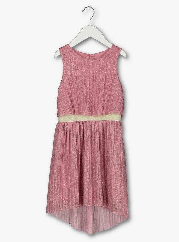 Pink Pleated Sparkle Dress - 13 years